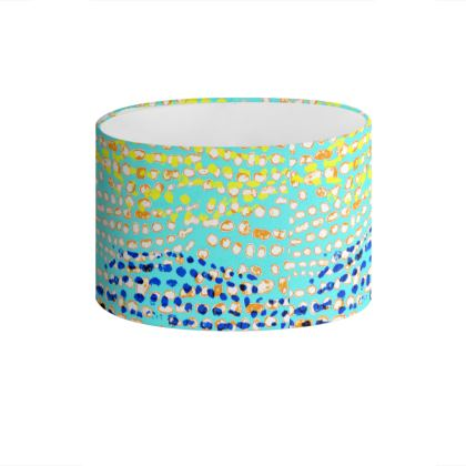 Textural Collection multicolored Drum Lamp Shade