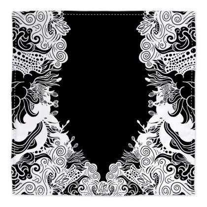Floral Black Bandana