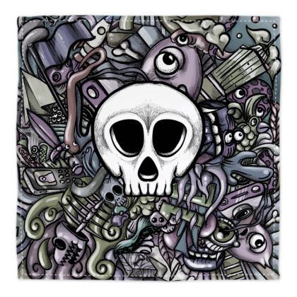 White Skull Bandana
