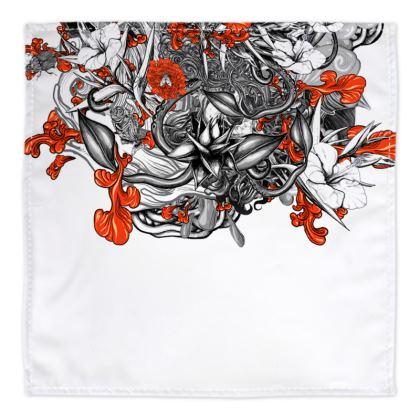 Floral White Bandana