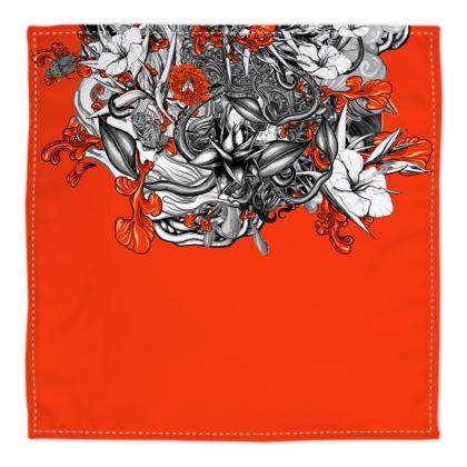 Floral Orange Bandana