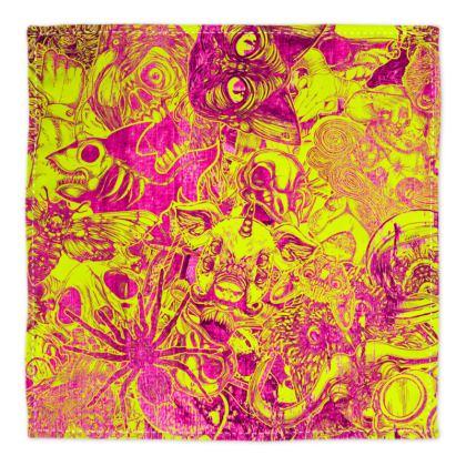 Yellow Stickers Bandana