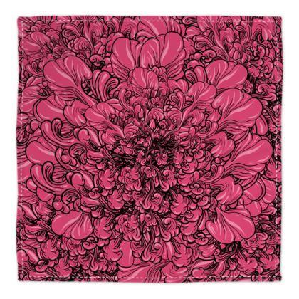 Pink Flower Bandana