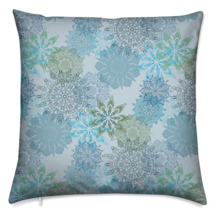 Mandala Dream (Blue) - Luxury Cushion