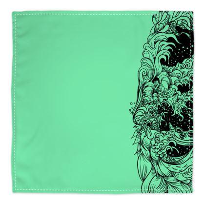 Wave Green Bandana