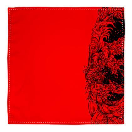 Wave Red Bandana