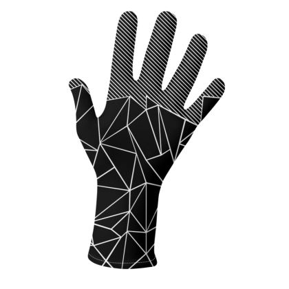 Ab Lines in Black and Grey - Gloves