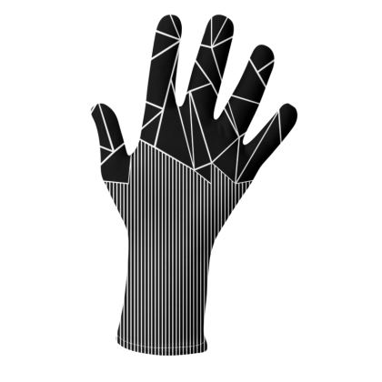Ab Lines Black and White Gloves