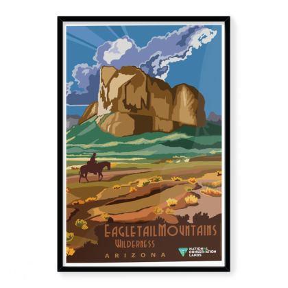 Eagle Mountain Wilderness Arizona Travel Poster