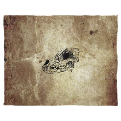 Wolf Skull Scarf Wrap Or Shawl