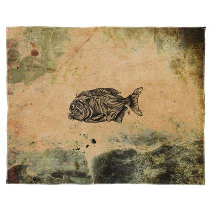 Piranha Scarf Wrap Or Shawl