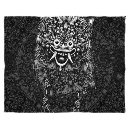 Bali Mask Scarf Wrap Or Shawl