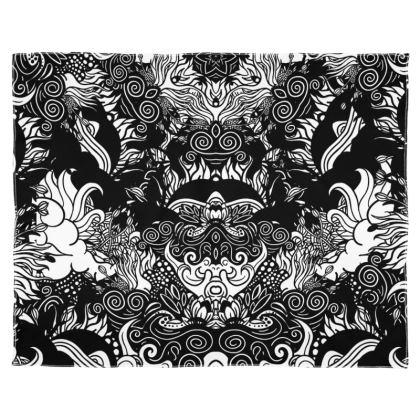 Floral Symmetry Scarf Wrap Or Shawl