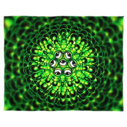 Mandala Monster Scarf Wrap Or Shawl