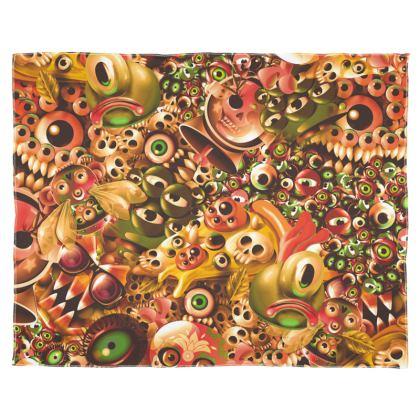 Monster World Warm Scarf Wrap Or Shawl