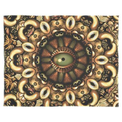 Mandala eye Scarf Wrap Or Shawl