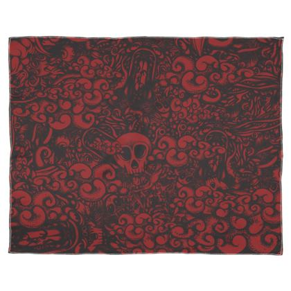 Doodles red Scarf Wrap Or Shawl