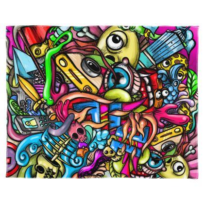 Doodles Scarf Wrap Or Shawl