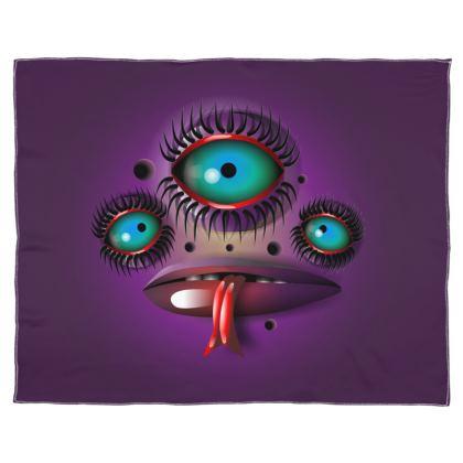 3 Eyes Scarf Wrap Or Shawl