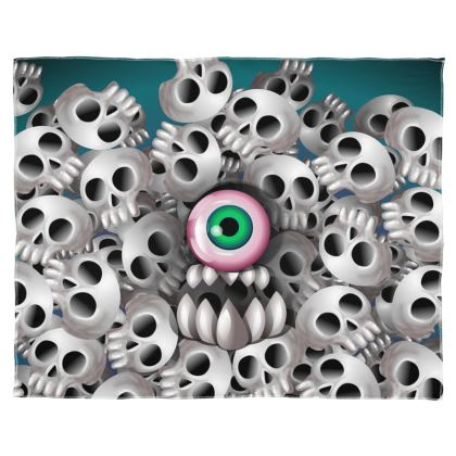 Skull Monster Scarf Wrap Or Shawl