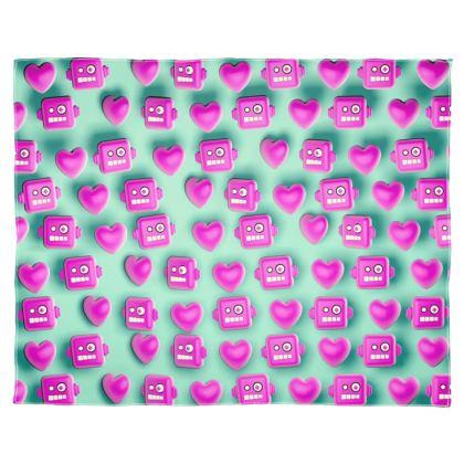Love Robots Scarf Wrap Or Shawl