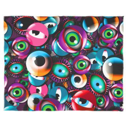 Eyes Scarf Wrap Or Shawl