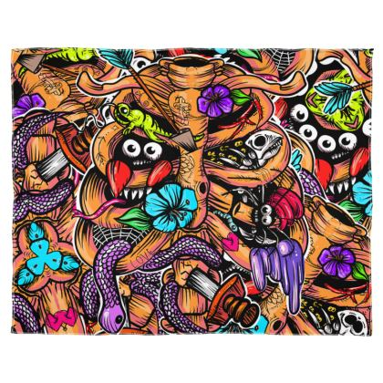 Doodle Bones Scarf Wrap Or Shawl