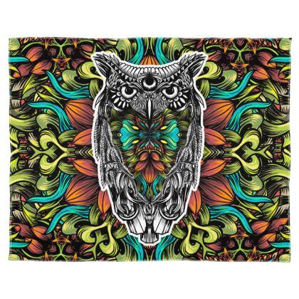 Flora Owl Scarf Wrap Or Shawl
