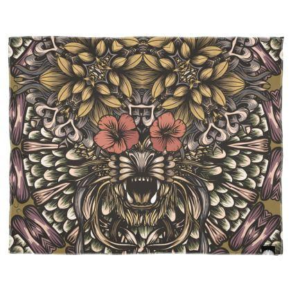 Floral Tiger Scarf Wrap Or Shawl