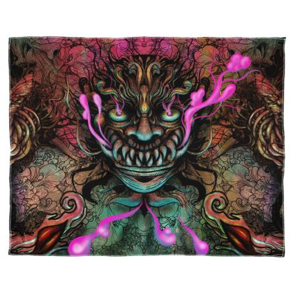 Japanese Demon Scarf Wrap Or Shawl