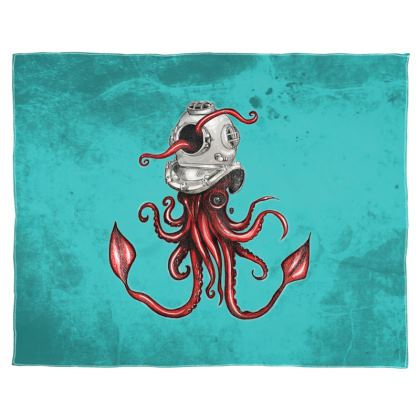 Helmet with squid Scarf Wrap Or Shawl