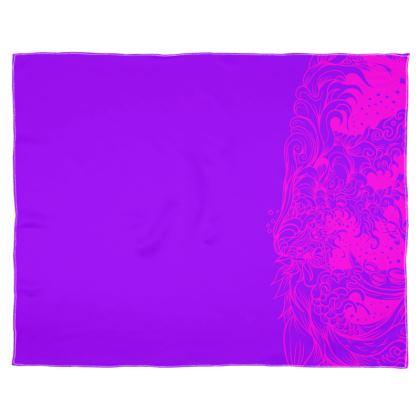 Purple Pink wave Scarf Wrap Or Shawl