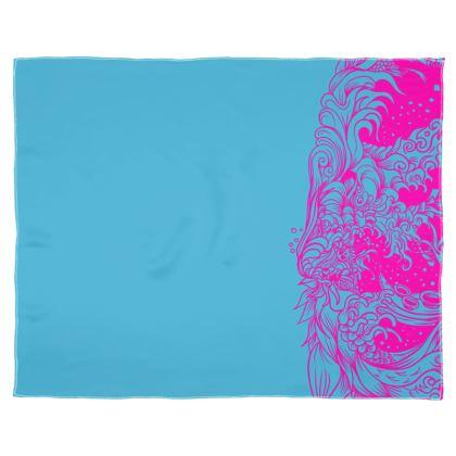 Blue wave Scarf Wrap Or Shawl