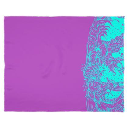 Purple wave Scarf Wrap Or Shawl
