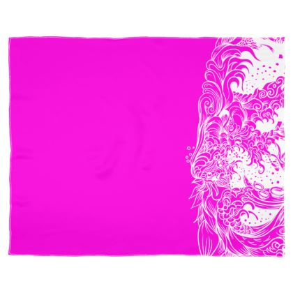 Pink Wave Scarf Wrap Or Shawl