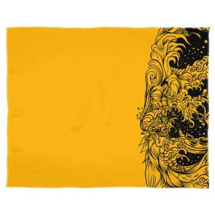 Yellow Wave Scarf Wrap Or Shawl