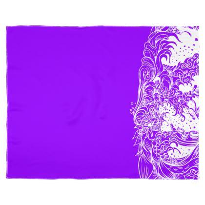 Purple 2 wave Scarf Wrap Or Shawl