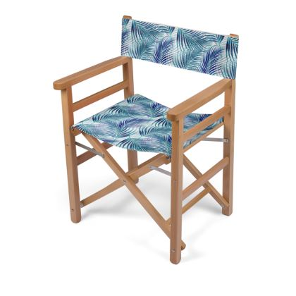 Tropical Garden in Blue Directors Chair