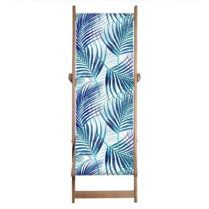 Tropical Garden in Blue Deckchair