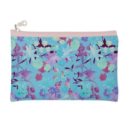 Blue Floral Pattern - Purse/bag