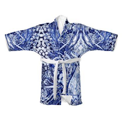 Blue Nouveau Kimono