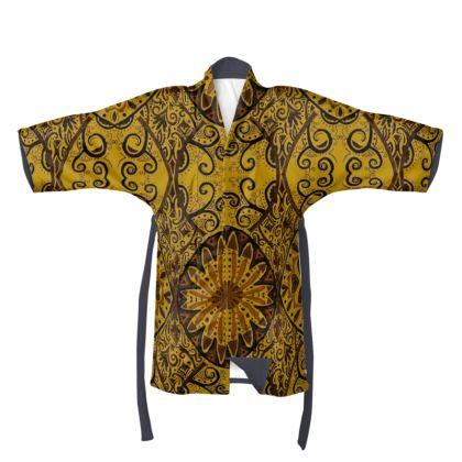 Yellow/Mustard Circular Kimono