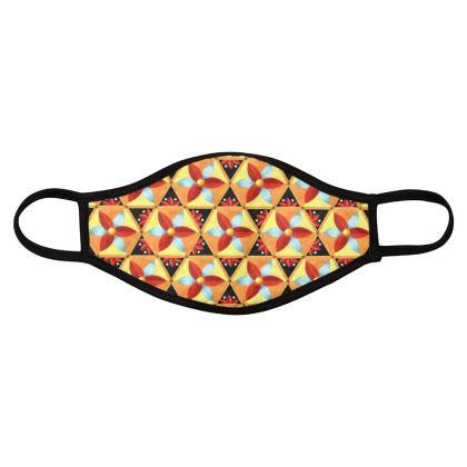 Geometric Hexagons Face Masks