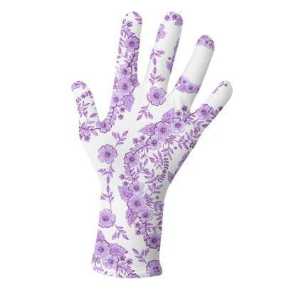Victorian Violet Flowers Gloves