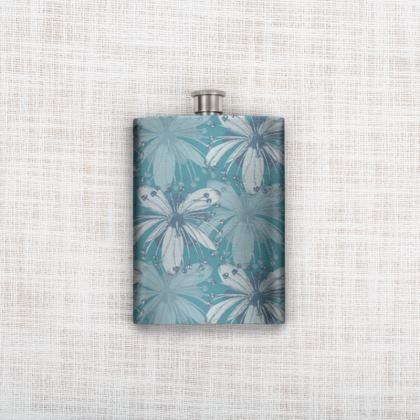 Hip Flask - Lime Flower