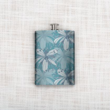 Hip Flask - Lime Flower