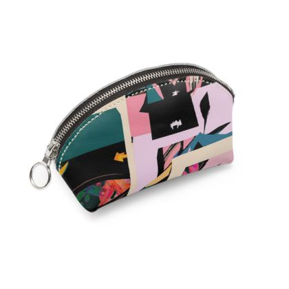 Abstract Print Shell Coin Purse