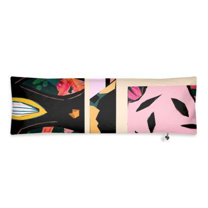 Abstract Print Bolster Cushion