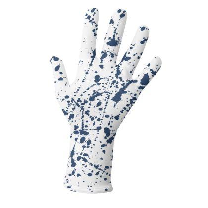 Splatter Glove set in Navy Blue