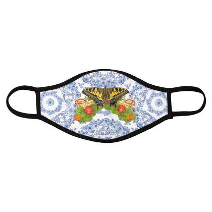 Swallowtail Butterfly Blue Rhapsody Face Masks